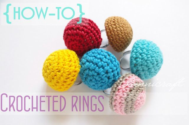 hannicraft: Crocheted rings {how-to} | Crochet bisutería | Pinterest ...