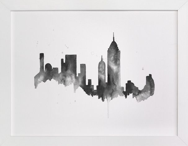 New York City Skyline Wall Art Prints By Kelsey Mcnatt Minted City Skyline Art Skyline Art City Painting