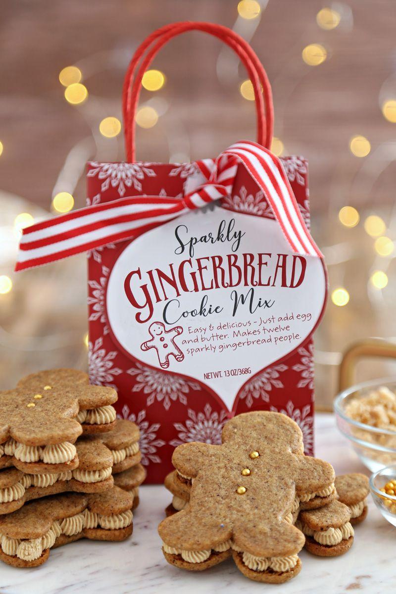 Gingerbread Men Sandwich Cookies 10 X Mas Cookies Sandwich