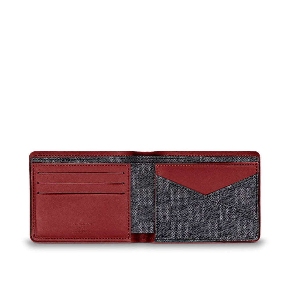 Louis vuitton multiple wallet wallet small leather