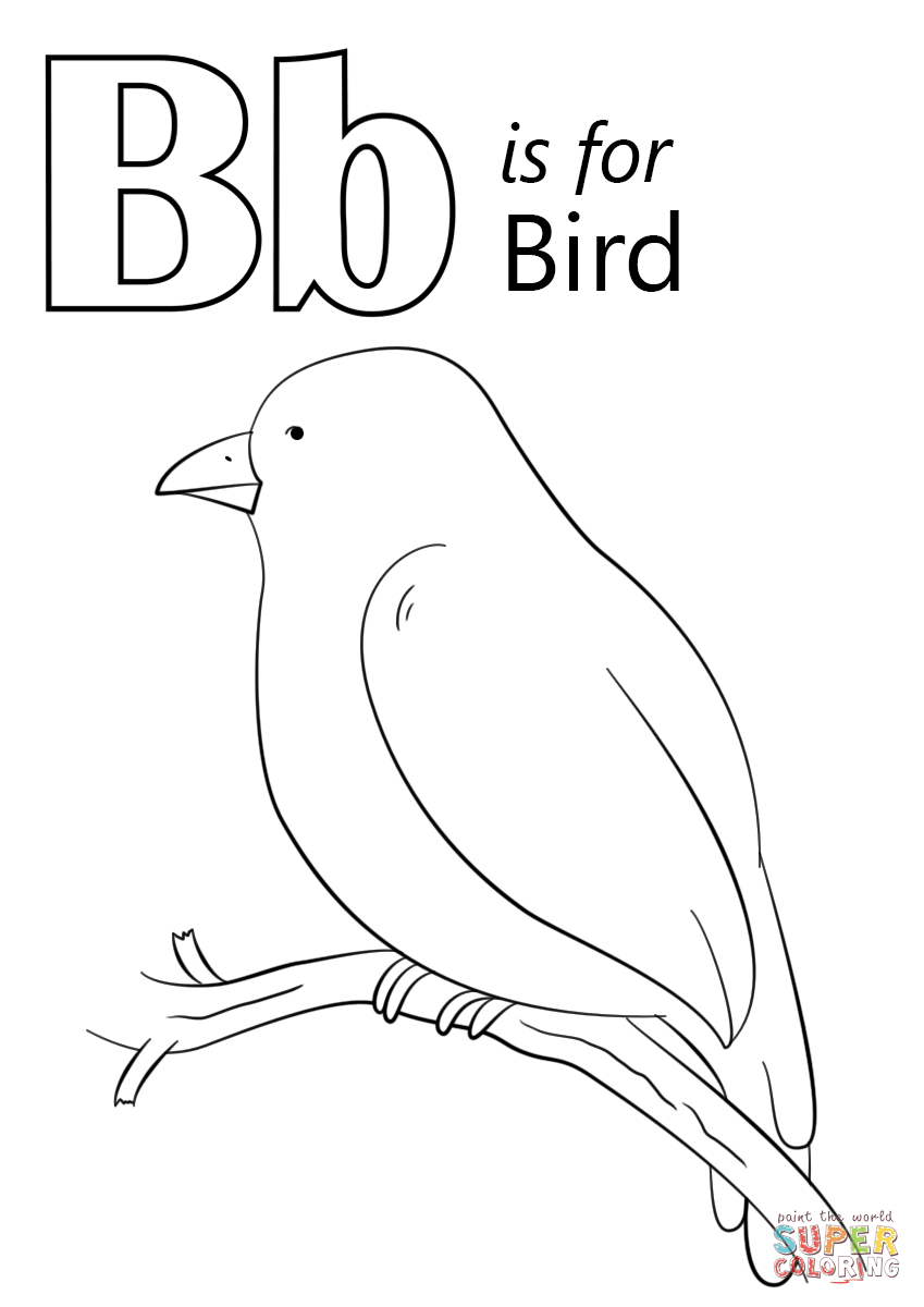 Letter B Is For Bird Coloring Page From Letter B Category Select From 27336 Printable Crafts O Preschool Coloring Pages Bird Coloring Pages Abc Coloring Pages [ 1200 x 849 Pixel ]