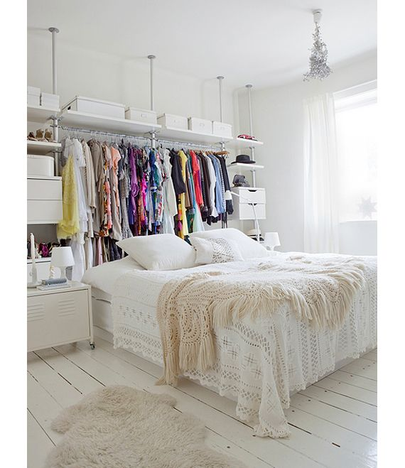 Charming Small Bedroom No Closet Ideas Part - 7: Does Your Bedroom Lack A Closet? Do You Have A Lot Of Clothes To Store?  Here Are 9 Unique, Simple Ways To Store Your Clothes Without A Closet.