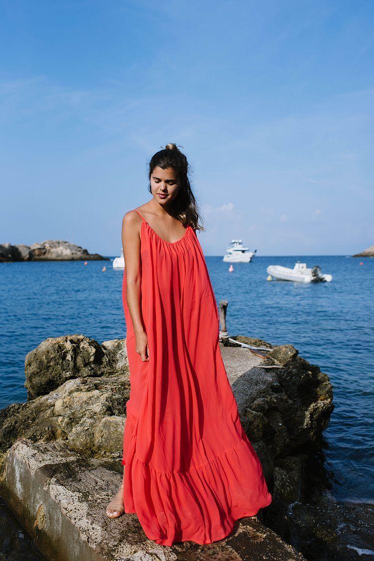 DIY Backless Silk Maxi Dress