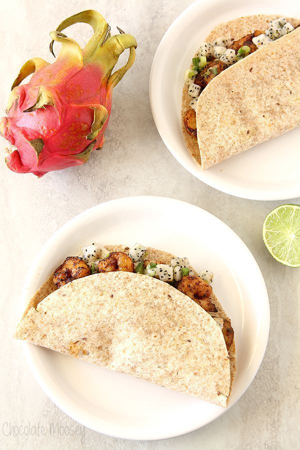Fajita-Spiced Shrimp Tacos With Dragon Fruit Salsa - if you've never tried dragon fruit, this is the perfect recipe to introduce it