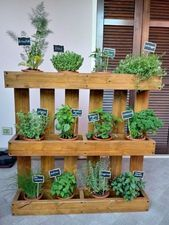 Small herb garden on the balcony  A herb garden does not need much space. Also o…