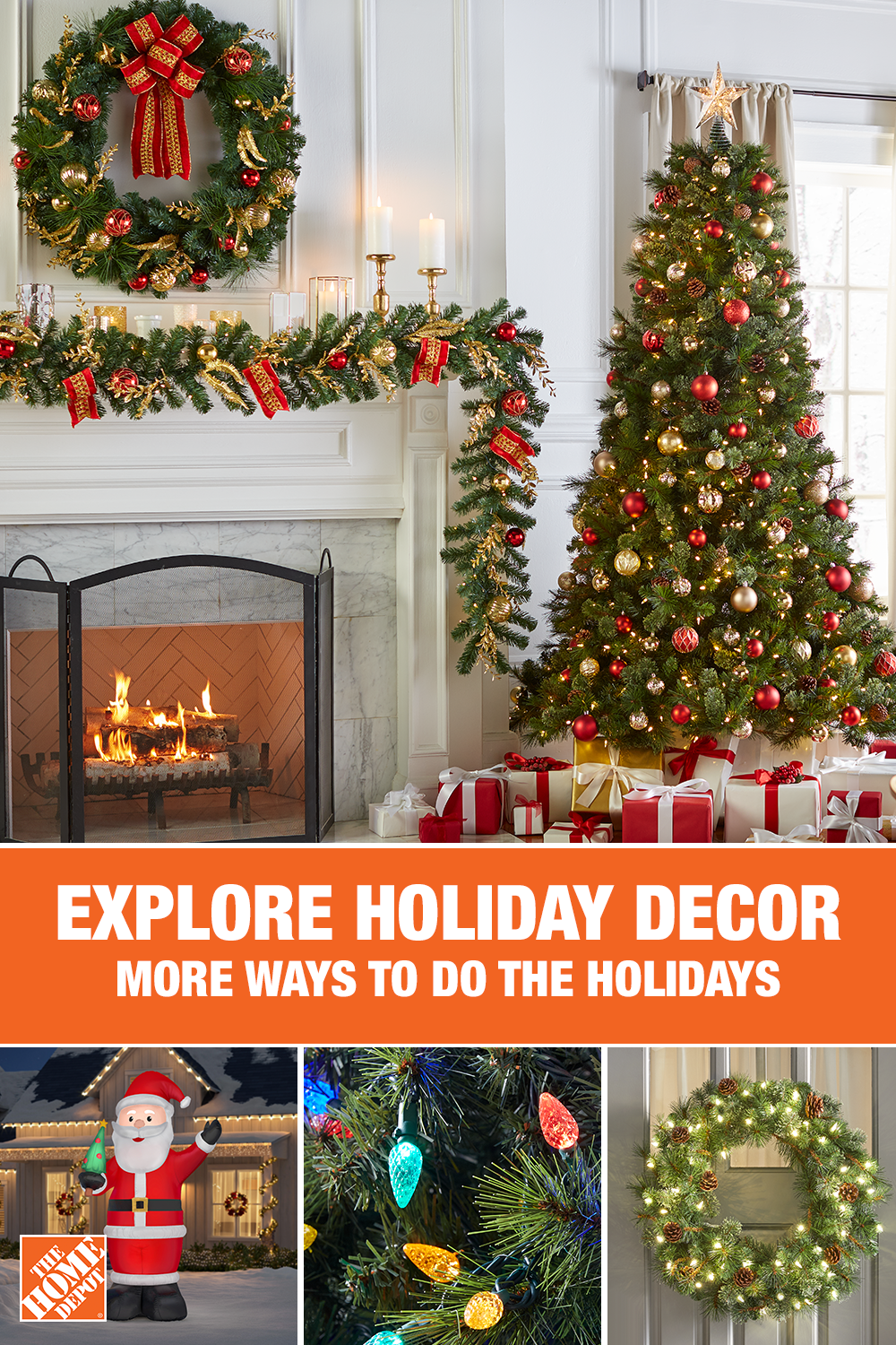 Your Season Starts With Decor From The Home Depot Make This Year Magical Home Depot Christmas Decorations Holiday Decor Christmas Easy Christmas Decorations