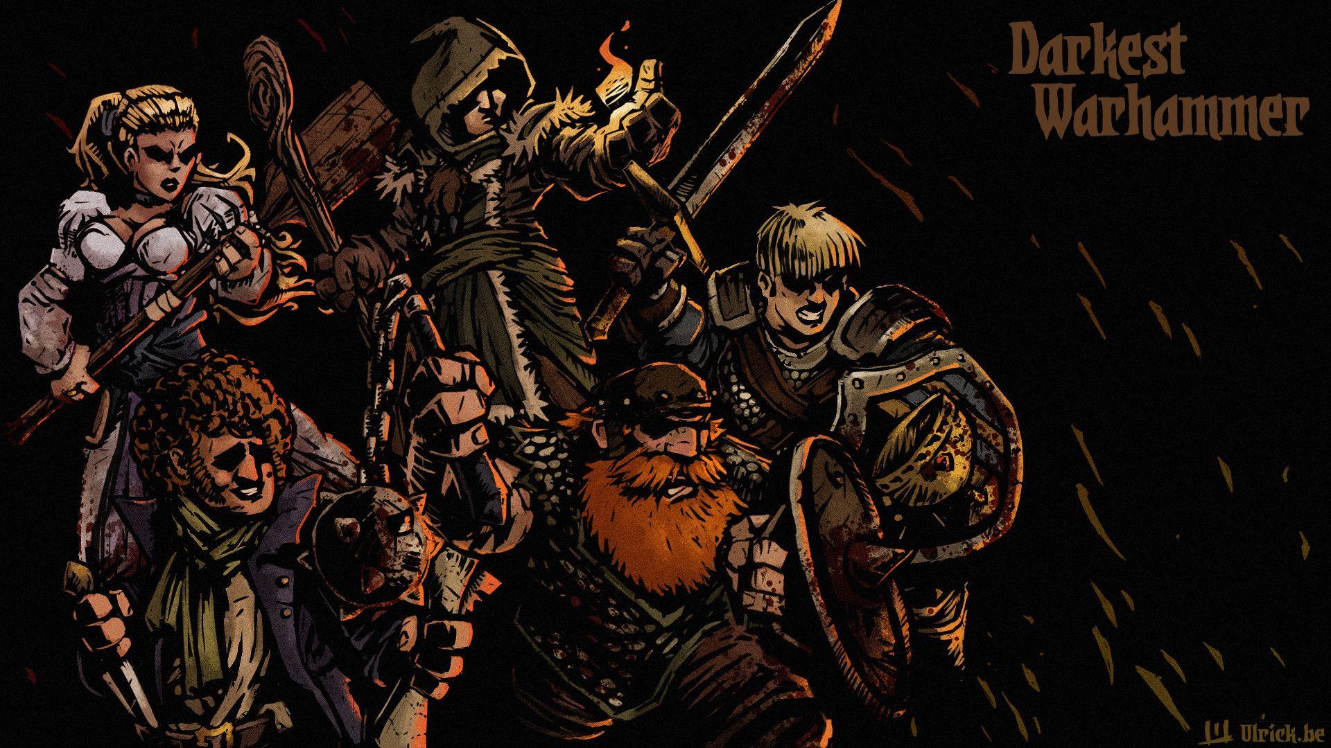 Darkest Warhammer Ulrick Wery Darkest Dungeon Warhammer Artwork