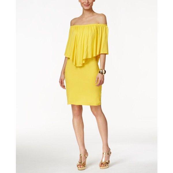 ee4c8e194139 Thalia Sodi Off-The-Shoulder Ruffled Dress