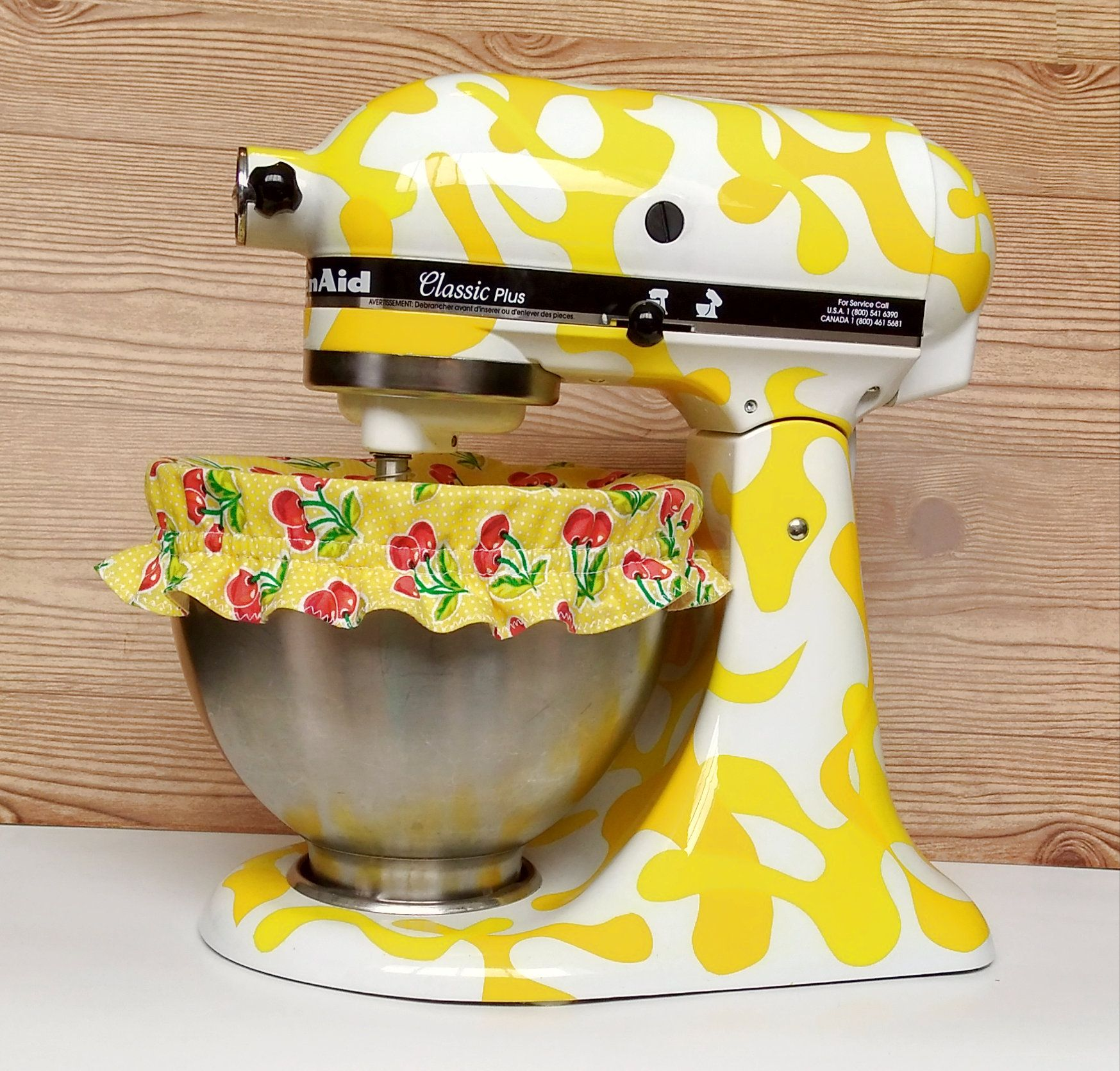 Bowl covers reusable stand mixer bowl cover cherry