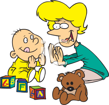 Iclipart Com Royalty Free Clipart Image Of A Mom And Child Playing Pat A Cake Royalty Free Clipart Kids Clipart Free Clipart Images