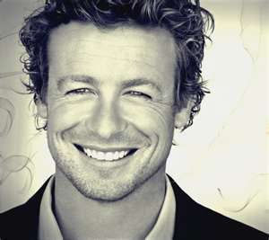 simon baker - I don't normally like blondes, but he's got such a beautiful smile.