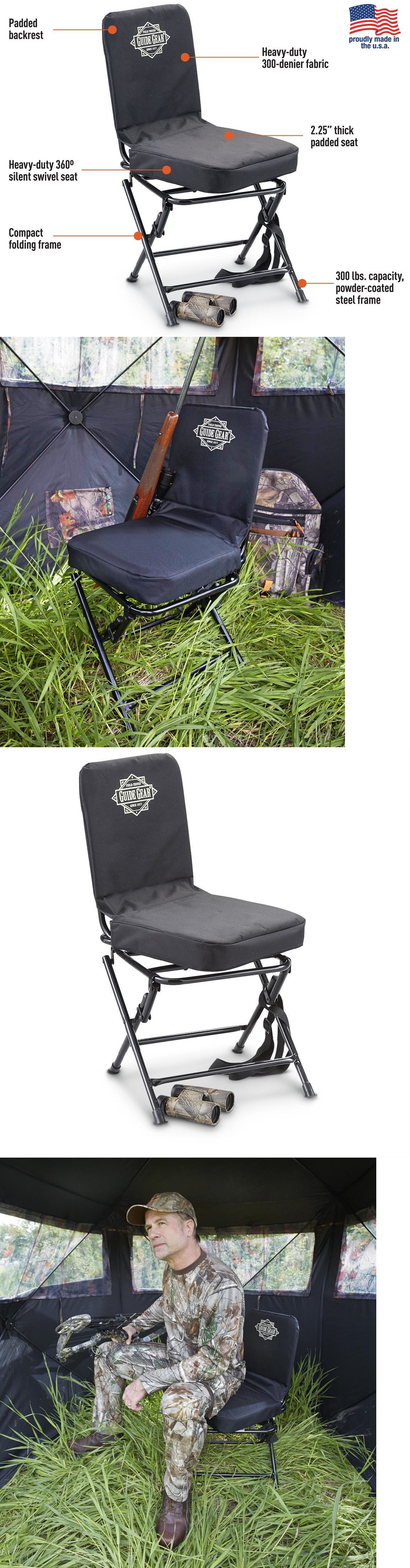 Seats and Chairs 52507: Hunting Blind Chair Seat Folding Steel Frame 360° Silent Swivel Padded Back Rest -> BUY IT NOW ONLY: $131.66 on eBay!