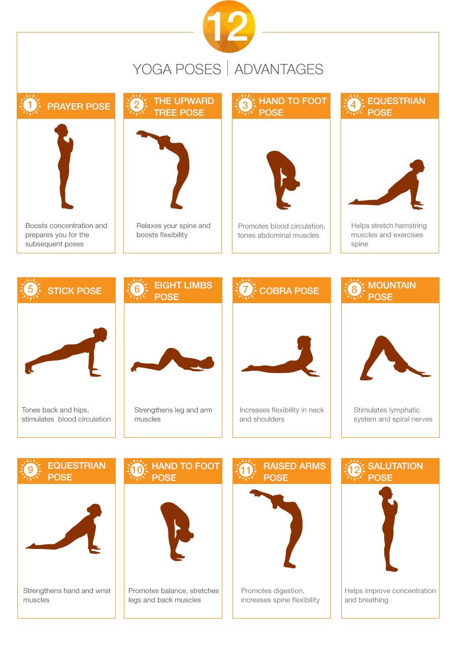 Surya Namaskar Steps Surya Namaskar Yoga Poses Yoga