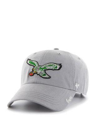 34434c5fdd2 47 Philadelphia Eagles Grey Miata Clean Up Adjustable Hat ...