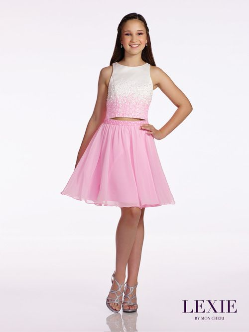 0989c213d47 Beautiful two piece Tween Special Occasion Party Dress is every young  lady s dream outfit. Lexie Junior Homecoming Dress 11663 gives you both  charm and ...