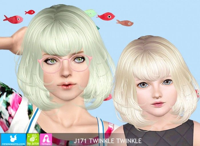 J171 Twinkle Twinkle hair by Newsea *pay - Sims 3 Downloads