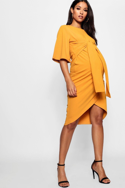 Maternity Kimono Wrap Over Midi Dress  eedad6949