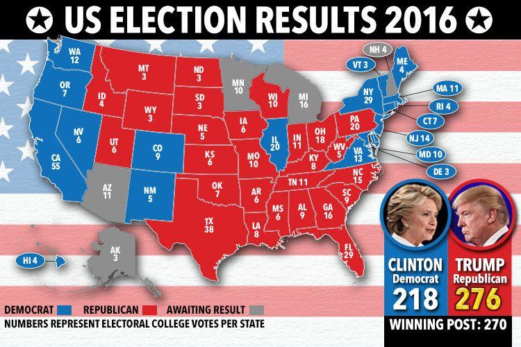 Gli Arcani Supremi (Vox clamantis in deserto - Gothian): Mappa del voto per le Elezioni Presidenziali del 2...