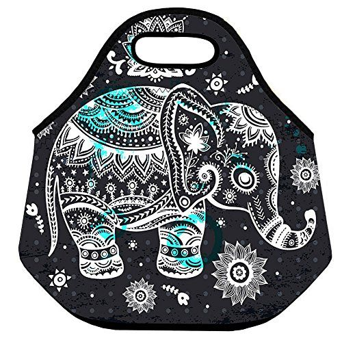 301d35f31311 Lionkin8 Insulated Neoprene Lunch Bag Elephant Designer Reusable ...