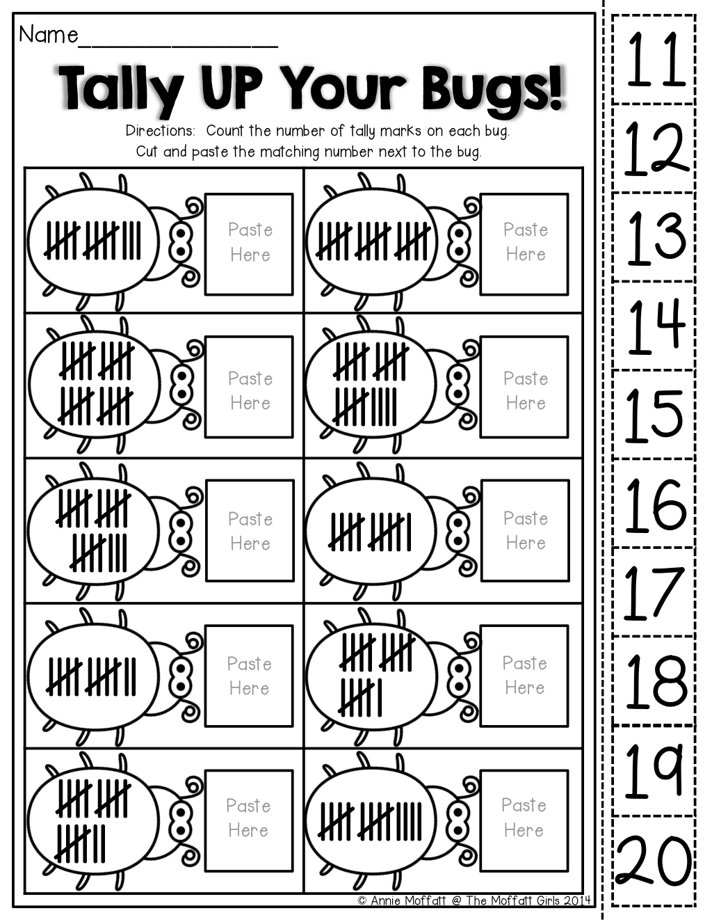 Tally Chart Worksheet