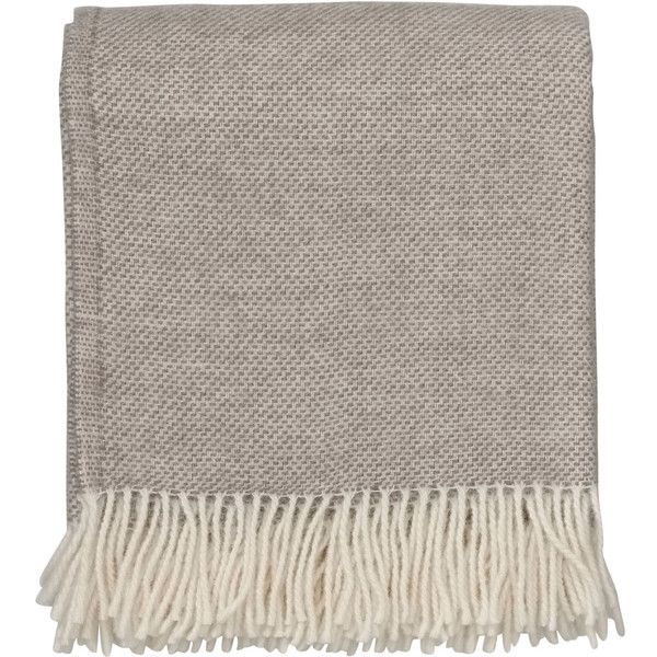 By Nord Hugin Throw Sand Birch 160 CAD Liked On Polyvore Featuring