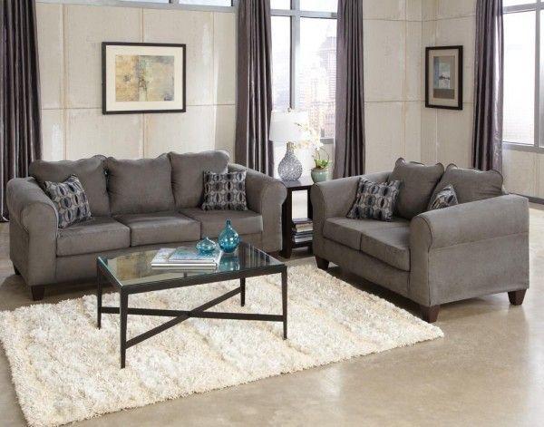 Nice Grey Microfiber Sofa Set , Luxury Grey Microfiber Sofa Set 59 Sofas  And Couches Set