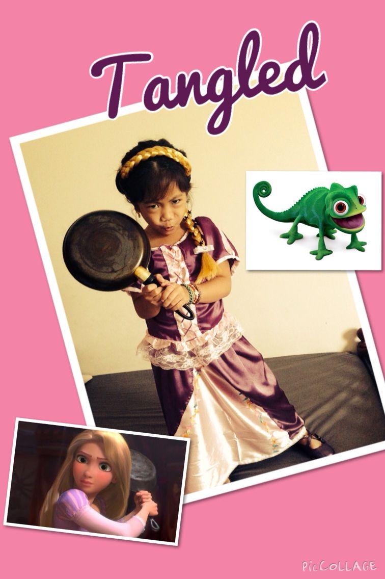 DIY Tangled Rapunzel costume