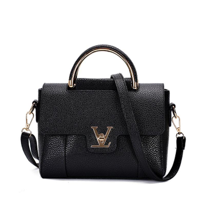 Hot Flap V delle Donne di Cuoio di Lusso Nero Frizione Bag Ladies Handbags Donne di marca Borse Messenger Sac À Main Femme 2016 Manico Corto