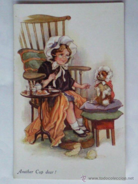 TARJETA POSTAL NIÑOS ,- AÑO 1917 (Postales - Niños)