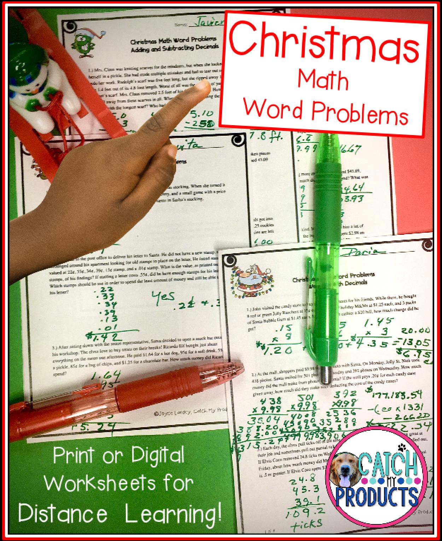 Christmas Math Word Problem Worksheets Word Problems Math Word Problems Math Words [ 1530 x 1250 Pixel ]