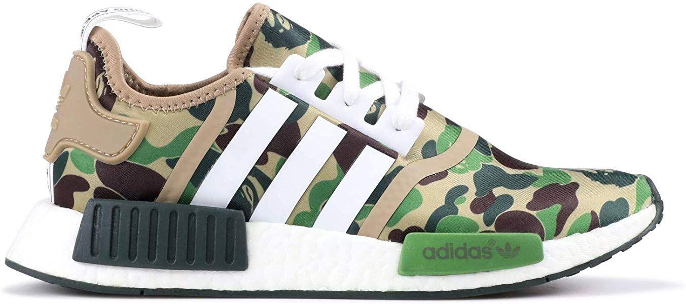 7f7597341d4d6 Adidas x Bape NMD R1- Green Camo - Size UK 8- Brand New 100% Genuine ...