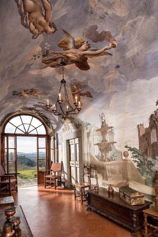 Villa Medicea di Lilliano Florence Tuscany Italy Pinterest