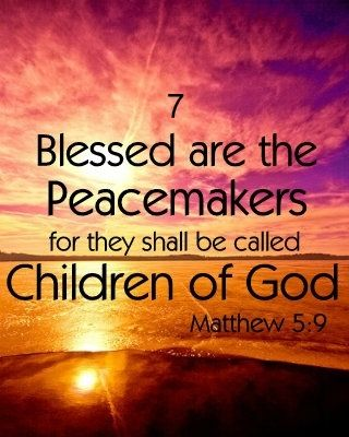 Image result for picture matthew 5:9 Bible