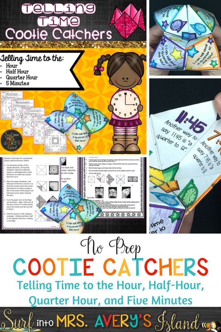 Just in TIME for your students to master the math standard of telling time!  Make SECONDS count with these no-prep, hands-on, fun foldables while your students learn how to tell time to the hour, half-hour, quarter past the hour, quarter to the hour, and telling time to five minutes!  In just a MINUTE you can have an engaging, self-checking, time telling activity for a math center, test prep, fast finisher activity, etc.