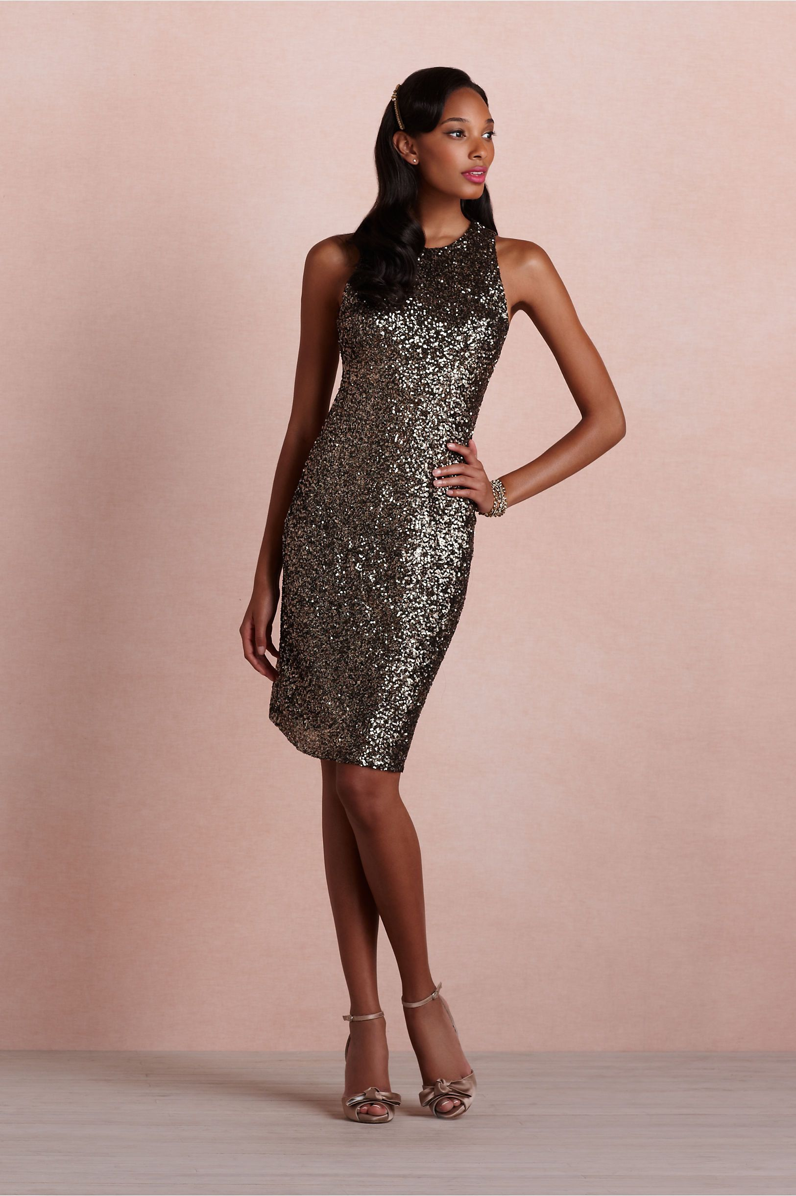 Chocolate brown sequin dress--too much attention from the bride? You ...