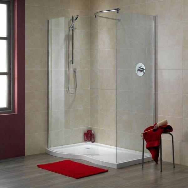 BadezimmerGestaltungsideen in Trendfarben Rot und Grün