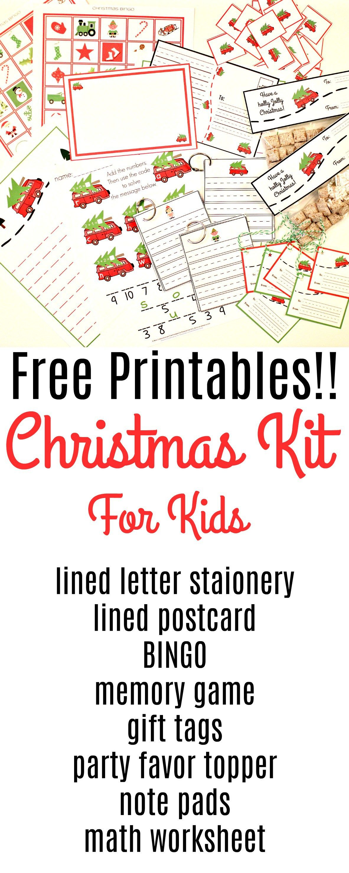 8 Pack Christmas Printables For Kids
