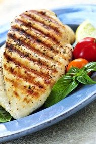 90 Calories Per Serving Grilled Skinned Chicken Breast With 1tsp