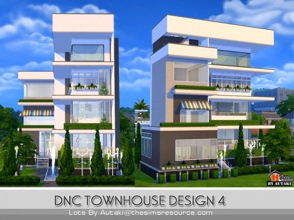 The Sims Resource: DNC Townhouse Design 4 By Autaki U2022 Sims 4 Downloads