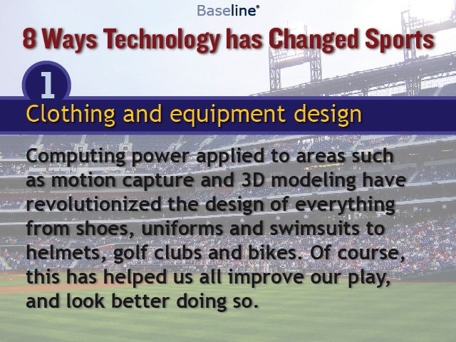 TEHCNOLOGY:  How has technology changed sports?