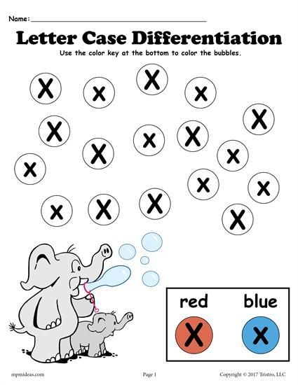 FREE Letter X Do-A-Dot Printables For Letter Case Differentiation