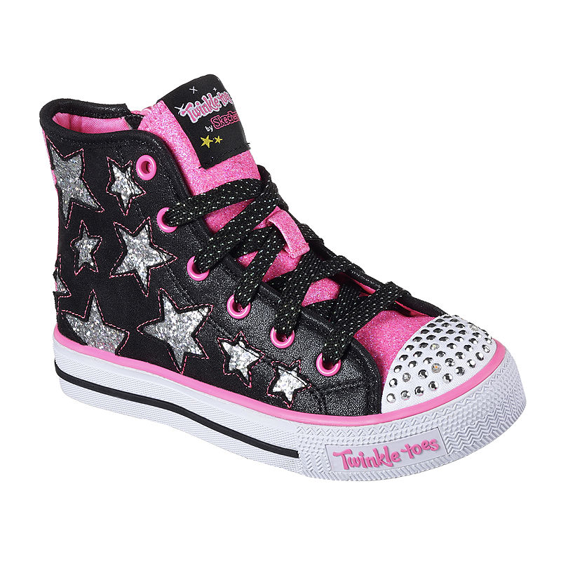 Skechers Twinkle Toes Shuffles Girls Sneakers Little Kids