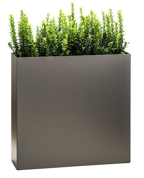 Partition Tower Planter Pewter Modern Planters Outdoor Commercial Planters Planters