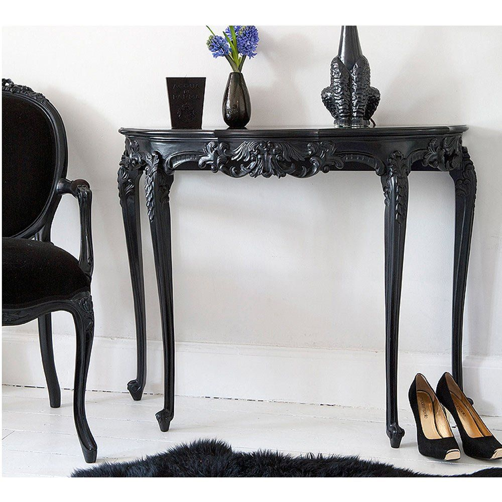 Sassy Boo Black Console Table Classic French Console Table In
