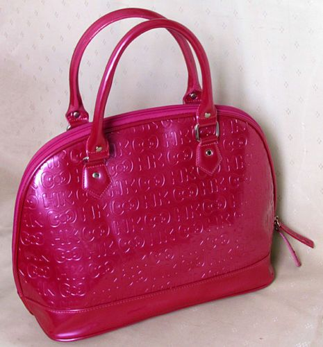 e5f7d1f97574 Loungefly-Hello-Kitty-Embossed-Handbag-Pink-Dome-Purse-Satchel-Sanrio-HK-Bow