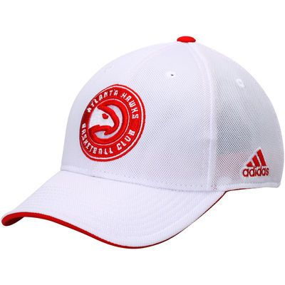 low priced 27876 1f5f4 Men s adidas White Atlanta Hawks Authentic Team Structured Adjustable Hat