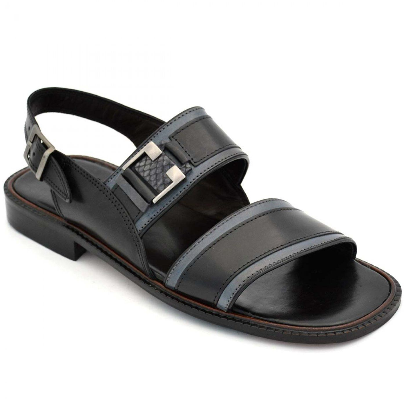 d56056ca2 Buy Online Swanky Black Leather Floater Sandal For Men