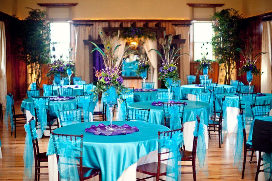 Teal And Purple Wedding Ideas: Teal, Purple And Peacock Feathers Makes A Beautiful And