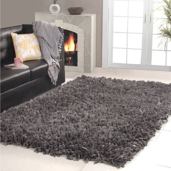 Affinity Home Collection Cozy Area Rug 5 X 8 Gray Grey Size Polyester Solid