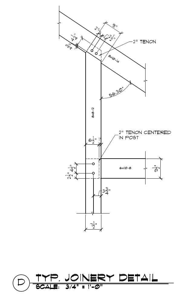 Post To Rafter With Tie Beam Joinery Timber Frame Joinery Timber Frame Joints Timber Frame Building